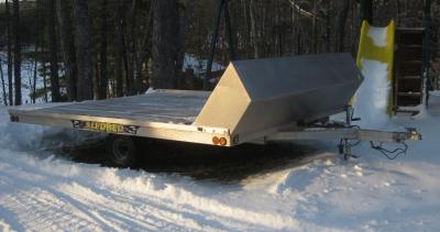"sled bed 101"" x 10' open trailer - classified - slednh"